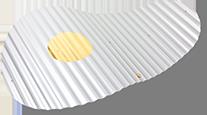 Geowave Aluminium mit Goldpunkt